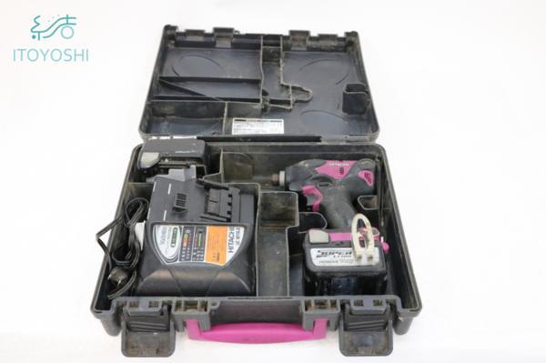 動作確認済み 日立工機 HITACHI コードレスインパクトドライバ WH14DSL2 14.4V バッテリー2個 充電器 ケース付き 電動工具