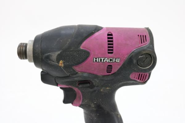 動作確認済み 日立工機 HITACHI コードレスインパクトドライバ WH14DSL2 14.4V バッテリー2個 充電器 ケース付き 電動工具_画像3