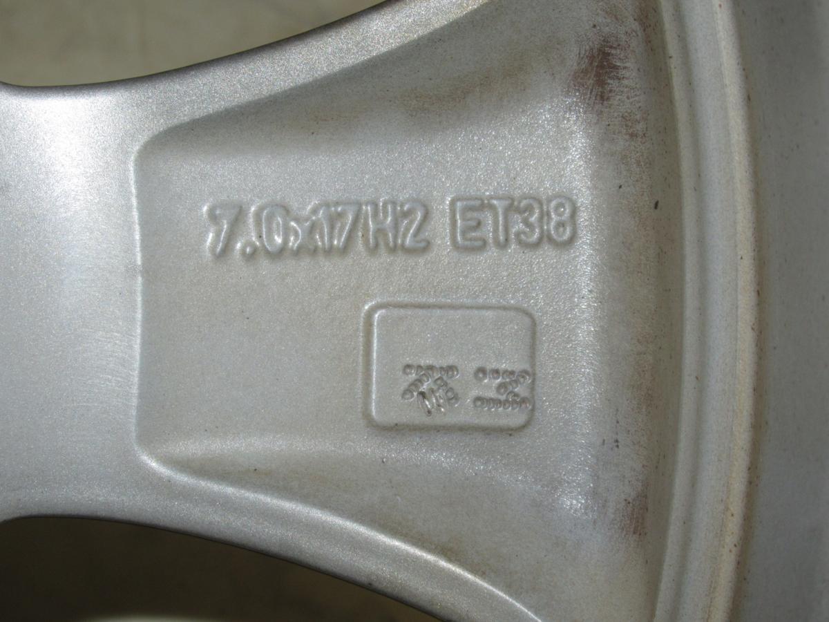 フィアット(FIAT)500アバルト 7J-17 off+33 pcd98/4H 205/40R17 タイヤ付き4本セット_画像7
