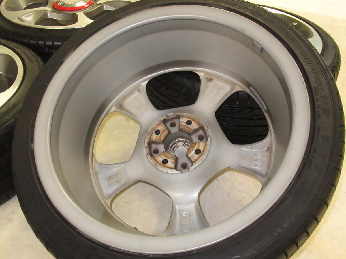 フィアット(FIAT)500アバルト 7J-17 off+33 pcd98/4H 205/40R17 タイヤ付き4本セット_画像9