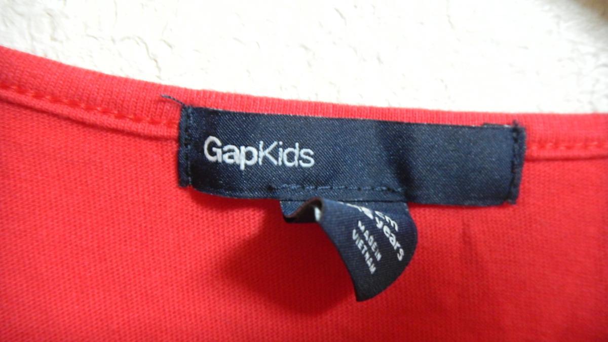 AP91■GAP KIDS ギャップ キッズ 半袖Tシャツ/カットソー 160 赤色 レッド_画像4
