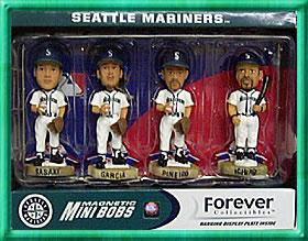 即決MLBシアトルマリナーズ ミニボビンヘッド全4種セット グッズの画像