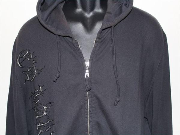 エドハーディー ED HARDY メンズフルジップパーカ ブラック Sサイズ 新品_画像2