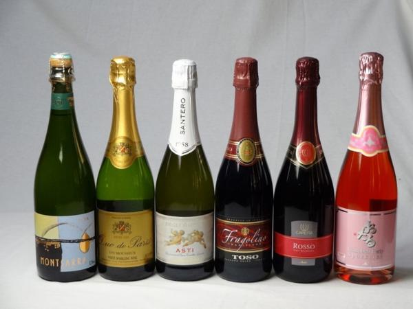 スパークリングワイン甘口豪華6本セット モンサラ セミ セコ_画像1
