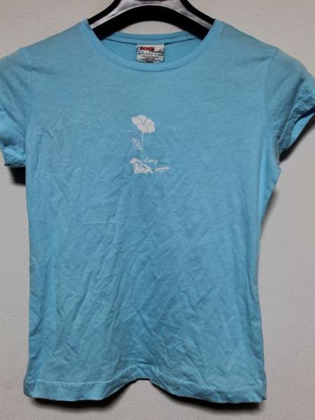ロキシー Roxy レディース半袖Tシャツ Sサイズ ブルー 新品_画像1