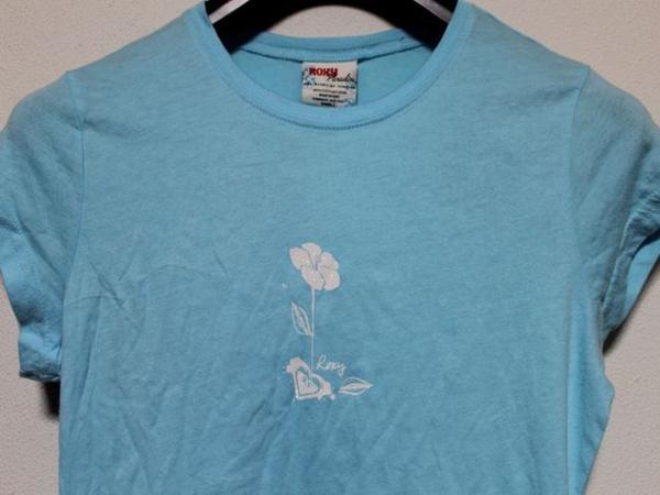 ロキシー Roxy レディース半袖Tシャツ Sサイズ ブルー 新品_画像2