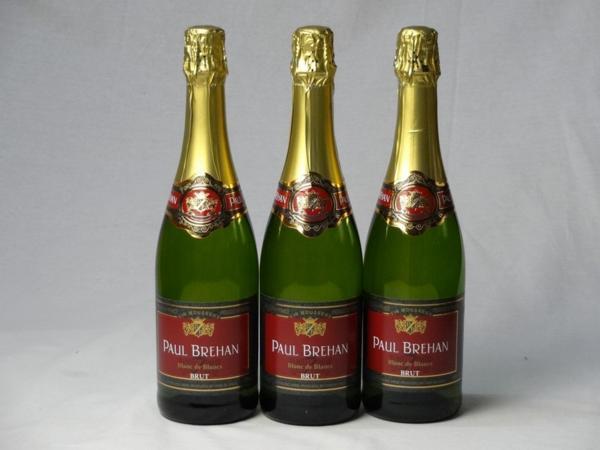 スパークリングワイン辛口3本セット ポール・ブレハン ブラン_画像1