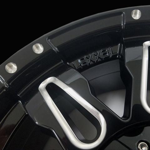 LEXXEL【Balano offroad style】LX570、ランクル200系、100系、セコイア、タンドラ 20インチ 海外輸入タイヤ 285/50R20 タイヤホイールset_画像4