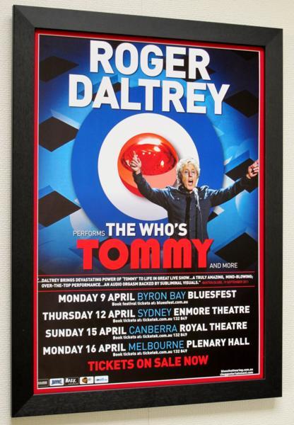 Roger Daltrey/オリジ・ポスター/The Who/Tommy/ザ・フー/額付