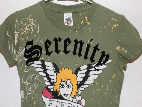 エドハーディー ED HARDY レディース半袖Tシャツ XSサイズ グリーン 正規品 新品_画像2