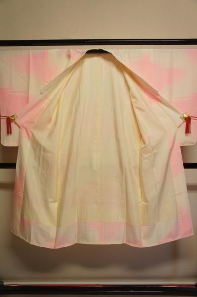 正絹ピンクぼかし霞模様半衿付長襦袢G5156_ピンクぼかし霞模様半衿付長襦袢