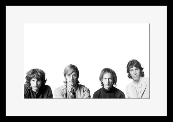 BW:人気ロックバンド!ドアーズ/The Doors/モノクロ写真フレーム-1