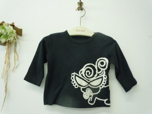 ヒスミニ ヒステリックミニ HYSTERIC MINI 70cm 長袖Tシャツ 黒_画像1