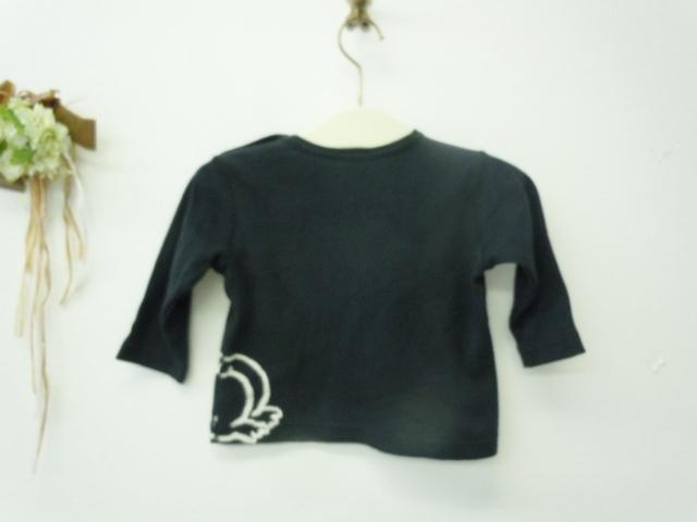 ヒスミニ ヒステリックミニ HYSTERIC MINI 70cm 長袖Tシャツ 黒_画像4