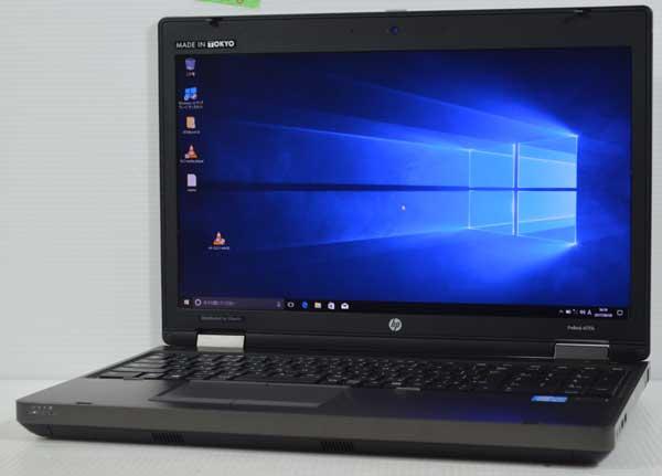 10S8 HP ProBook 6570b Core i5 3210M 4GB 320GB Windows 10 Professional 64bit 高解像度液晶 HD+ 1600x900 WiFi 無線LAN webカメラ 内臓_画像1