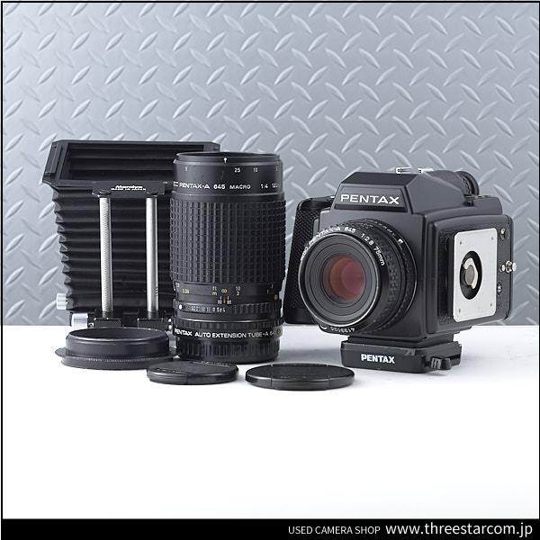 1円スタート!!PENTAX ペンタックス 645 PENTAX-A645 75mm 1:2.8 おまけ 120mm マクロ