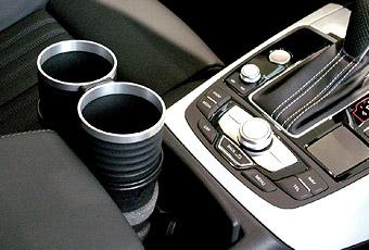 【M's】アウディ AUDI A7/S7/RS7 4G(2011y-)ALCABO ドリンクホルダー(シルバー タイプ)//社外品 アルカボ カップホルダー AL-M313S_※ 画像はBK+リングの取付けサンプル