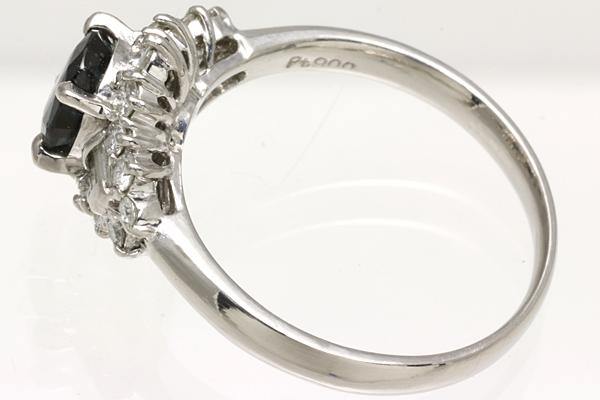♪ Pt900 カラーチェンジ ガーネット ダイヤ リング #12 4.6g 磨き済み 【Y143】 プラチナ 指輪 中古 鑑別済み ソーティング_画像4