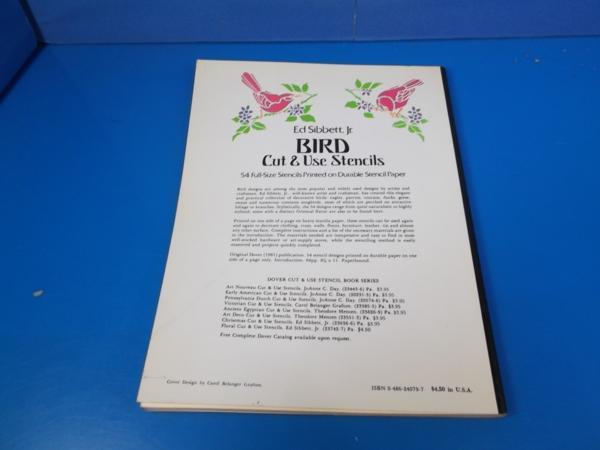1981年 BIRD Cut&Use Stensils Edsibbett_画像2