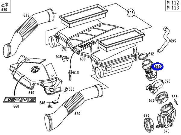 BOSCH エアフロセンサー (M113) W208 W209 R171 113-094-0048_画像3