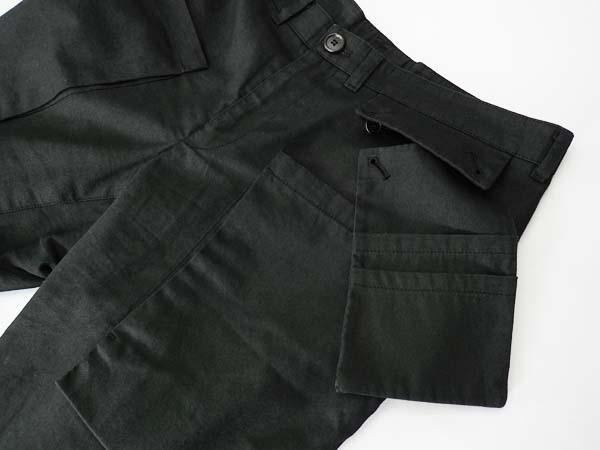 □Wooyoungmi(ウーヨンミ)デザインパンツ ブラック 46 良好!□_画像4