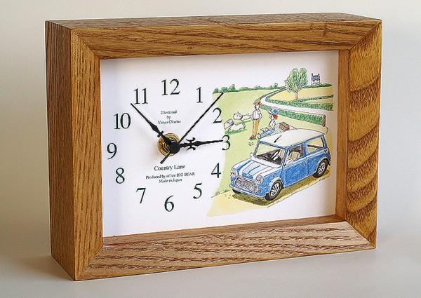 ◎〓◎)E(大熊康夫原画:ミニクーパー/シーリハムテリア_参考:この絵が印刷・使用された置時計