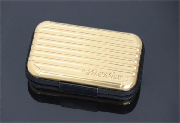 MADMAX オリジナル スーツケース型 アメニティ ポーチ トラベル ポーチ ゴールド/化粧ポーチ 小物入れ マルチケース パスポート バッグ_画像2