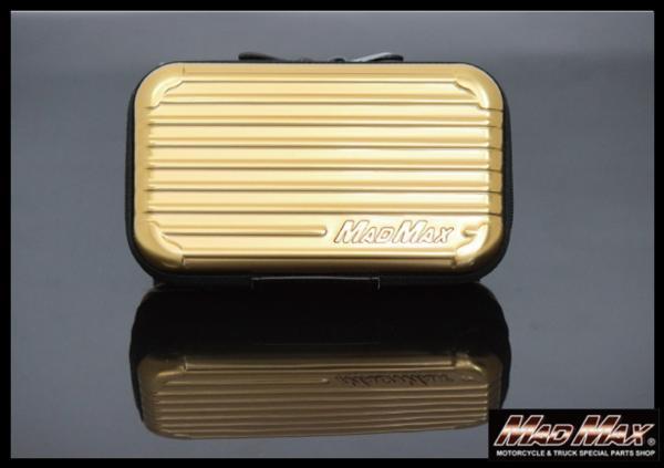 MADMAX オリジナル スーツケース型 アメニティ ポーチ トラベル ポーチ ゴールド/化粧ポーチ 小物入れ マルチケース パスポート バッグ_画像1
