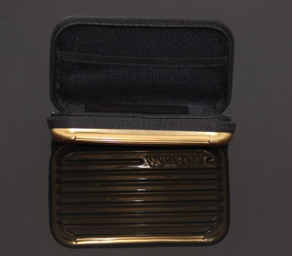 MADMAX オリジナル スーツケース型 アメニティ ポーチ トラベル ポーチ ゴールド/化粧ポーチ 小物入れ マルチケース パスポート バッグ_画像3