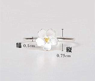新品 フリサイズ 桜 さくら 花モチーフ 輪リング_画像7