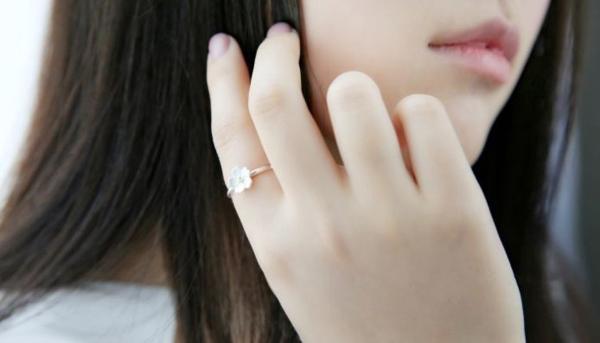 新品 フリサイズ 桜 さくら 花モチーフ 輪リング_画像5