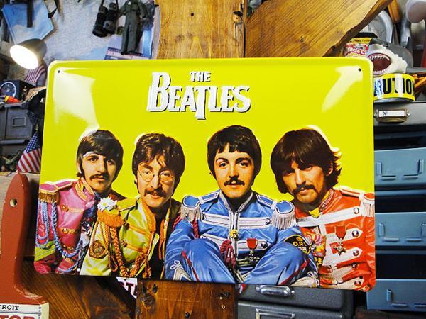 【195980】オフィシャルライセンス☆ドイツ製看板 ビートルズの3Dメタルサイン サージェントペッパー■beatles ポールマッカートニー ライブグッズの画像