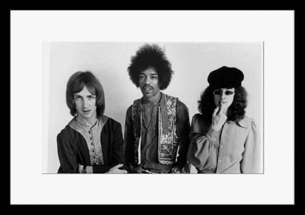 BW:人気!ザ・ジミ・ヘンドリックス・エクスペリエンス/The Jimi Hendrix Experience/モノクロ写真フレーム-3