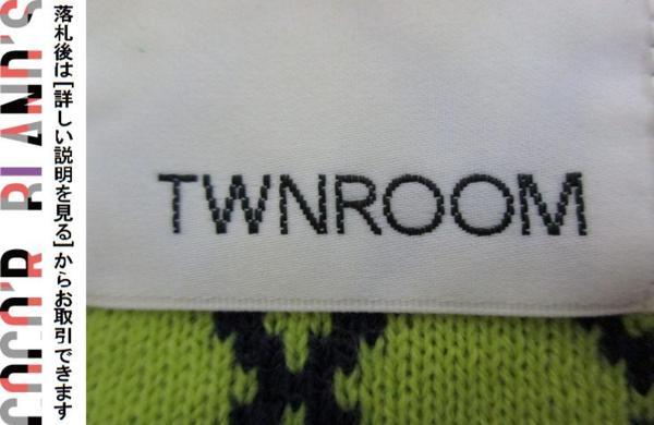 ツインルーム TWNROOM レディース ニットカットソー 長袖 紺 ネイビー 黄 イエロー F_画像3