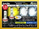 1円 角度調整可 ヘッドライト フォグランプ 6500k 色変更フィルム 3000k/8000k 2色付 PHILIPS LEDバルブ AS60 H8H9H11H16 HB3HB4 選択 2個