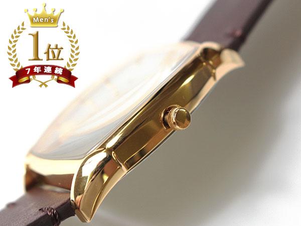 ◆新品未使用品◆Orobianco オロビアンコ 正規品 メンズ 腕時計 日付 3気圧防水 /イタリアンレザー革ベルト /濃茶/ 白文字盤 /AUREO F1005_画像3
