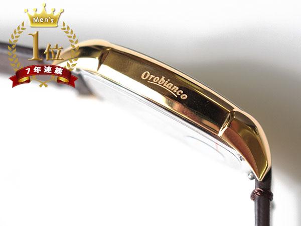 ◆新品未使用品◆Orobianco オロビアンコ 正規品 メンズ 腕時計 日付 3気圧防水 /イタリアンレザー革ベルト /濃茶/ 白文字盤 /AUREO F1005_画像4