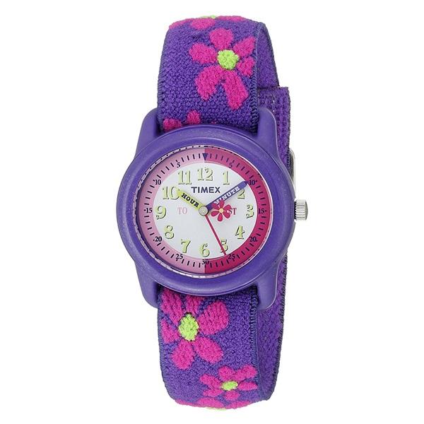 新品 即納 国内正規品 タイメックス 腕時計 キッズウォッチ タイムティーチャーBOX 置き時計セット 女の子 伸びるベルト YWG014800_画像2