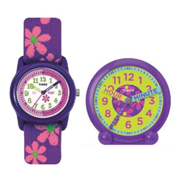新品 即納 国内正規品 タイメックス 腕時計 キッズウォッチ タイムティーチャーBOX 置き時計セット 女の子 伸びるベルト YWG014800_画像5