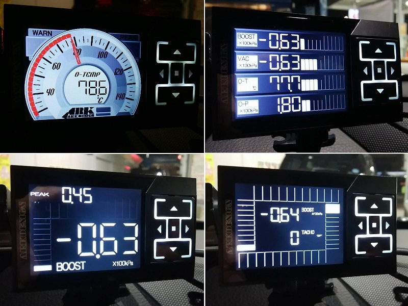 【日本製】液晶 多機能メーター ARK-DESIGN MFD SXE10 BCNR33 ST205 JZA80 Z33 S14 GDB AP1 CP9A BE5 ブースト/水温/車速/回転/バキューム_画像8