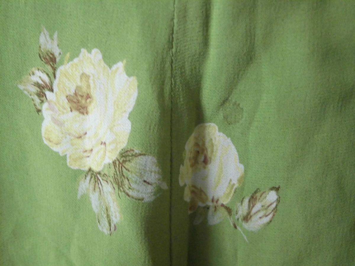 L'EST ROSE レストローズ セットアップ レディース ブラウス(裏地なし)スカート(裏地付き)フレア 膝上丈 花柄 バラ 薔薇 日本製 春色_画像9