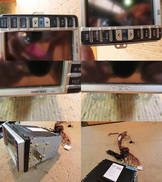 bB QNC21 HDDナビゲーションモニター NHDT-W55 ジャンク品 純正_画像2