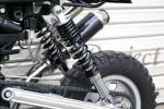 5段調整機能付き/黒330mmサスペンション/モンキー/カブ