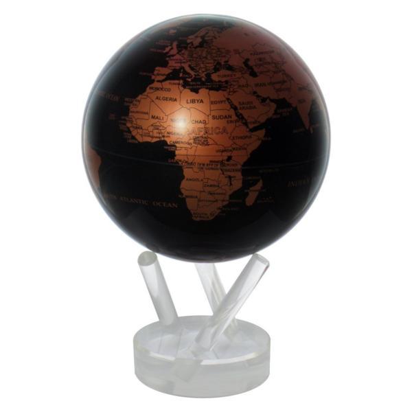 光で回る地球儀 ムーバグローブ MOVA Globe 4.5インチシリーズ【輸入品】 (カッパー&ブラック) 4.5 Copper and Black Earth MOVA Globe_画像1