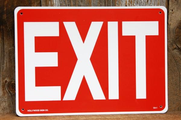 EXIT プラスティック製サインボード◆ 出口 看板 プレート JSCA1_画像1