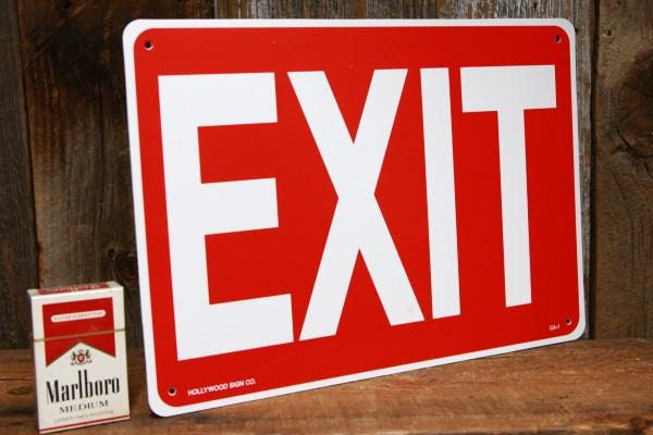 EXIT プラスティック製サインボード◆ 出口 看板 プレート JSCA1_画像2