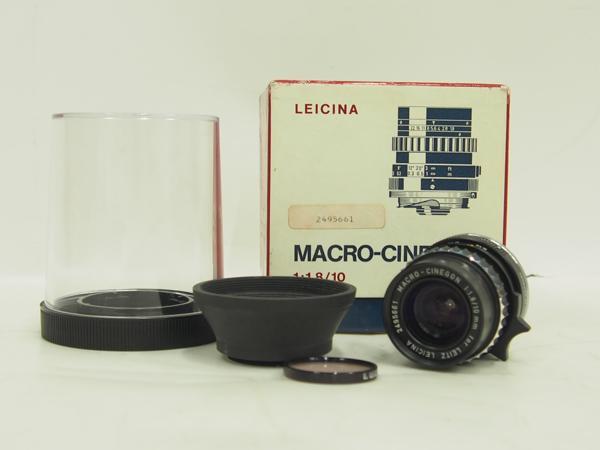 Leitz LEICINA レンズ MACRO-CINEGON 10mm 1:1.8 ∀ 4DA3A-30