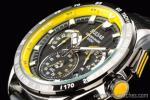 1円 セイコー 海外 パルサー イエロー&ブラック WRCラリー公認モデル クロノグラフ 腕時計