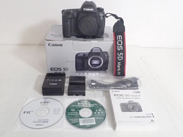 【美品】CANON キャノン デジタル一眼カメラ EOS 5D Mark IV ボディ 元箱/説明書/充電器/