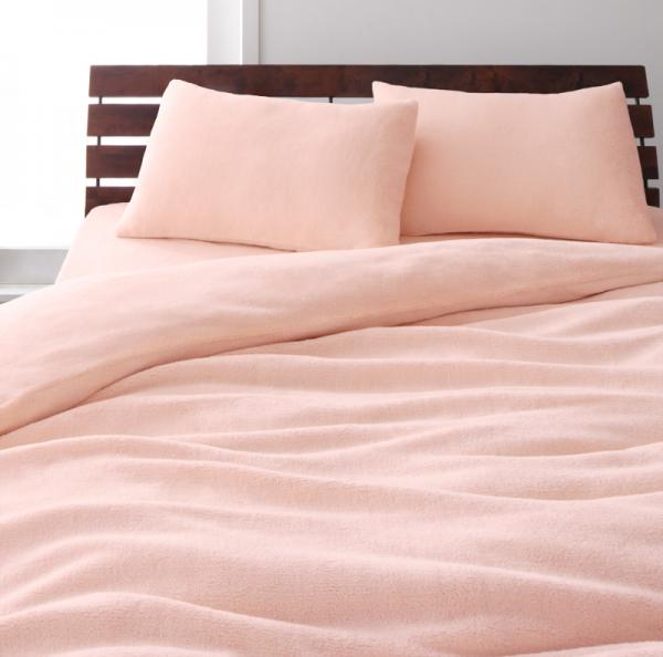 マイクロファイバー ベッド用 ボックスシーツ(マットレス用カバー)の単品 クイーン サイズ 色-さくら
